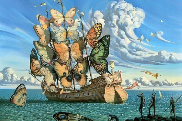 ❦Who says your sails must be cut from the same cloth as other ships? Be master of your own truth and let the wind in your sails is be love. ~Anne Scottlin #inspirationalquote #Art #VladimirKush #tuesdaymotivation #tuesdaythoughts <br>http://pic.twitter.com/V47kbZpnel