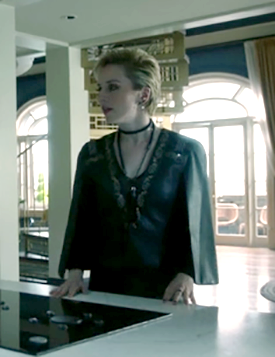 Marina 05x12 – The Balls  BCBG - Embroidered Faux Leather Cape Top #TheMagicians #SaveTheMagicians<br>http://pic.twitter.com/0loHUUW81w