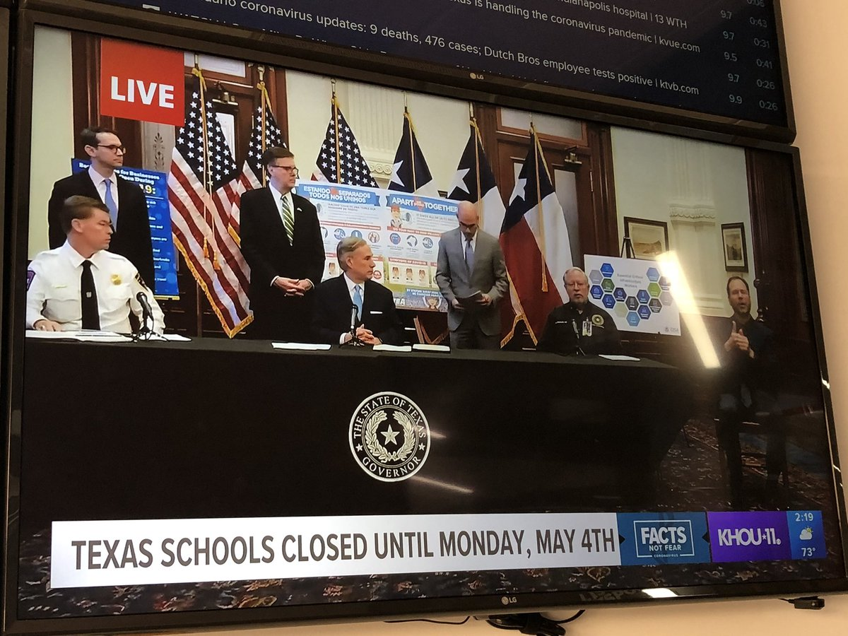 UPDATE: Texas schools closed until May 4th #KHOU11 #FactsNotFear