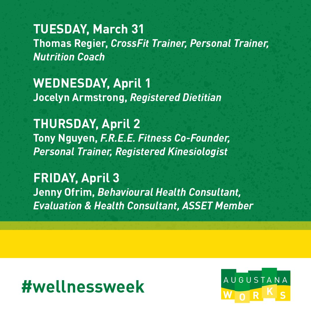 Ualberta Augustana V Twitter Since We Couldn T Have Wellnessweek On Campus We Decided To Let Uofaaugustana Alumni Take Over Our Social Media Stories With Tips On Nutrition Fitness Mental Health Head