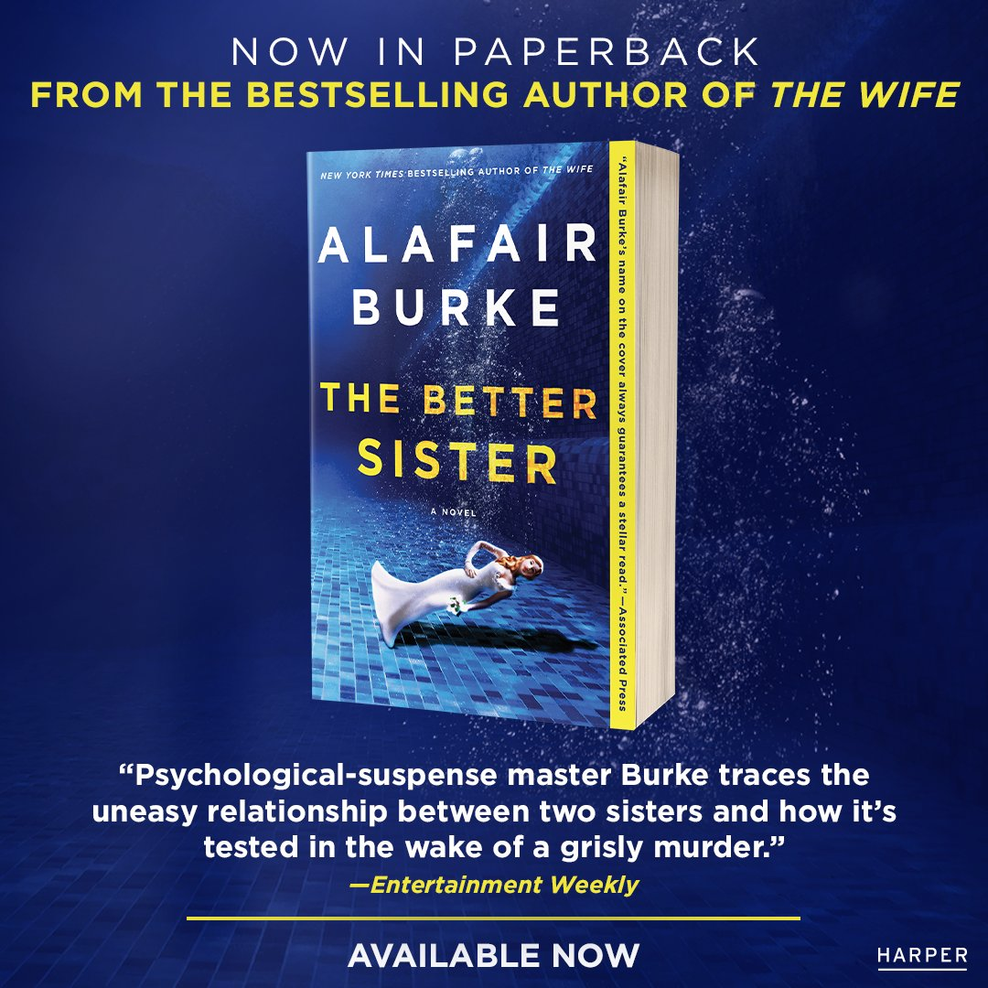 The days are blurring, but THE BETTER SISTER is out in paperback today if you're looking for a read during these trying times.  Stay healthy and well, and see you on the other side!
