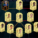 Image for the Tweet beginning: best 300k fifa squad? can't