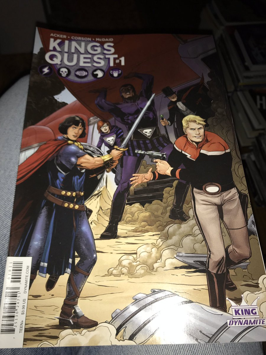 Do you by any chance have #2 and #4 of Dynamite's Kings Quest? I somehow find I have #1 and #3 only...pic.twitter.com/8Jd8HYuRZs