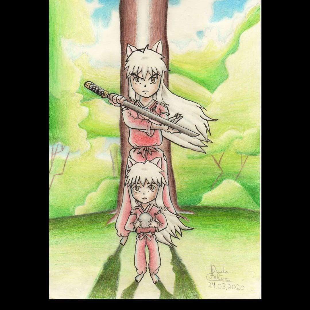 """""""Tudo é possível quando se tenta de verdade"""". - Inuyasha  Este é o desenho do InuYasha que eu fiz no meu traço  #inuyasha #adorodesenhar #desenhorealista #anime #mangá #manga #youkai #floresta #fanart #arvorepic.twitter.com/j8ucJUavTa"""