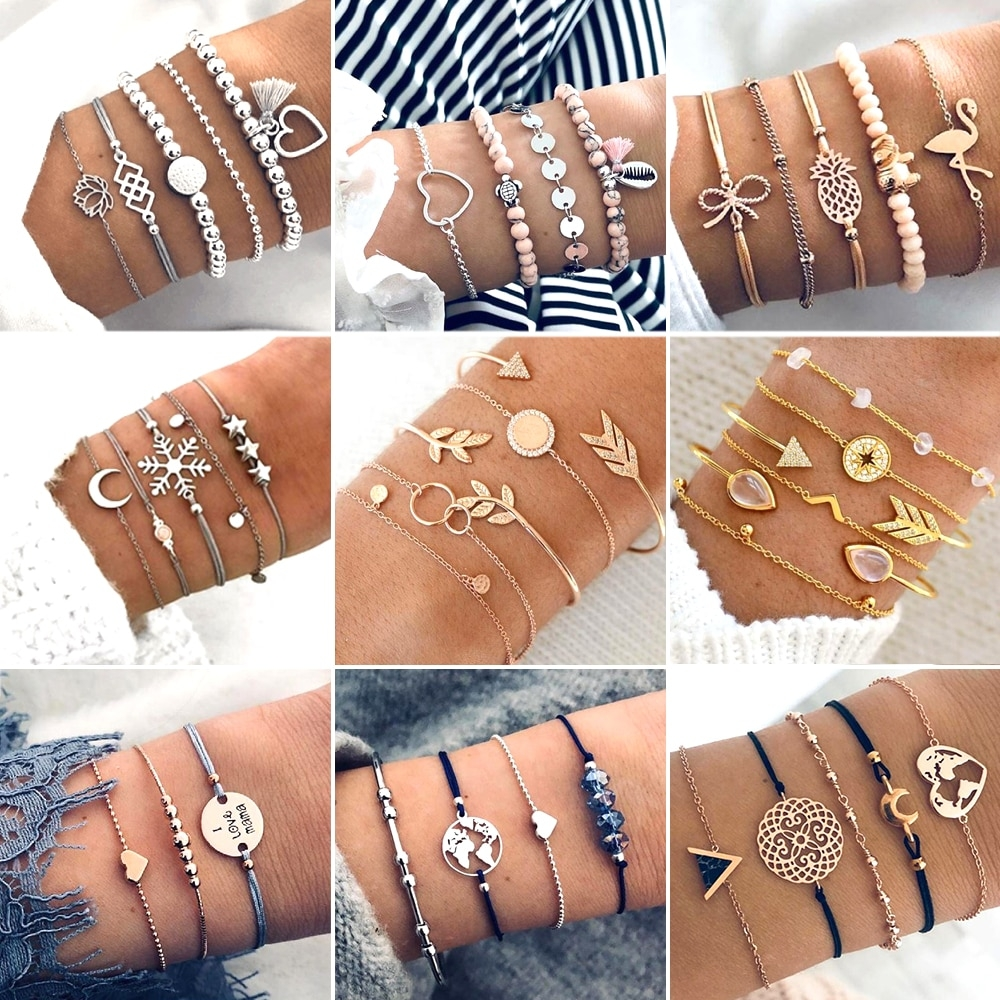 Women's Metal Bracelets Set #saversjewelry #jewelrydesign #jewelryaddict #jewelryartist