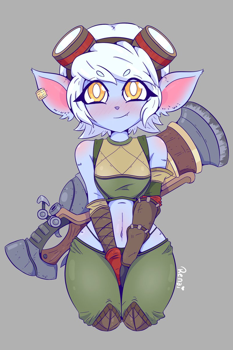 Just a quick drawing of Tristana, the character I play best ... or rather, the only one I know how to play haha   #lol #LeagueOfLegends #fanart #tristana #cute #CuteGirl  #furry #yordle #renai #renaichan #game pic.twitter.com/5ys3I6Y9nK