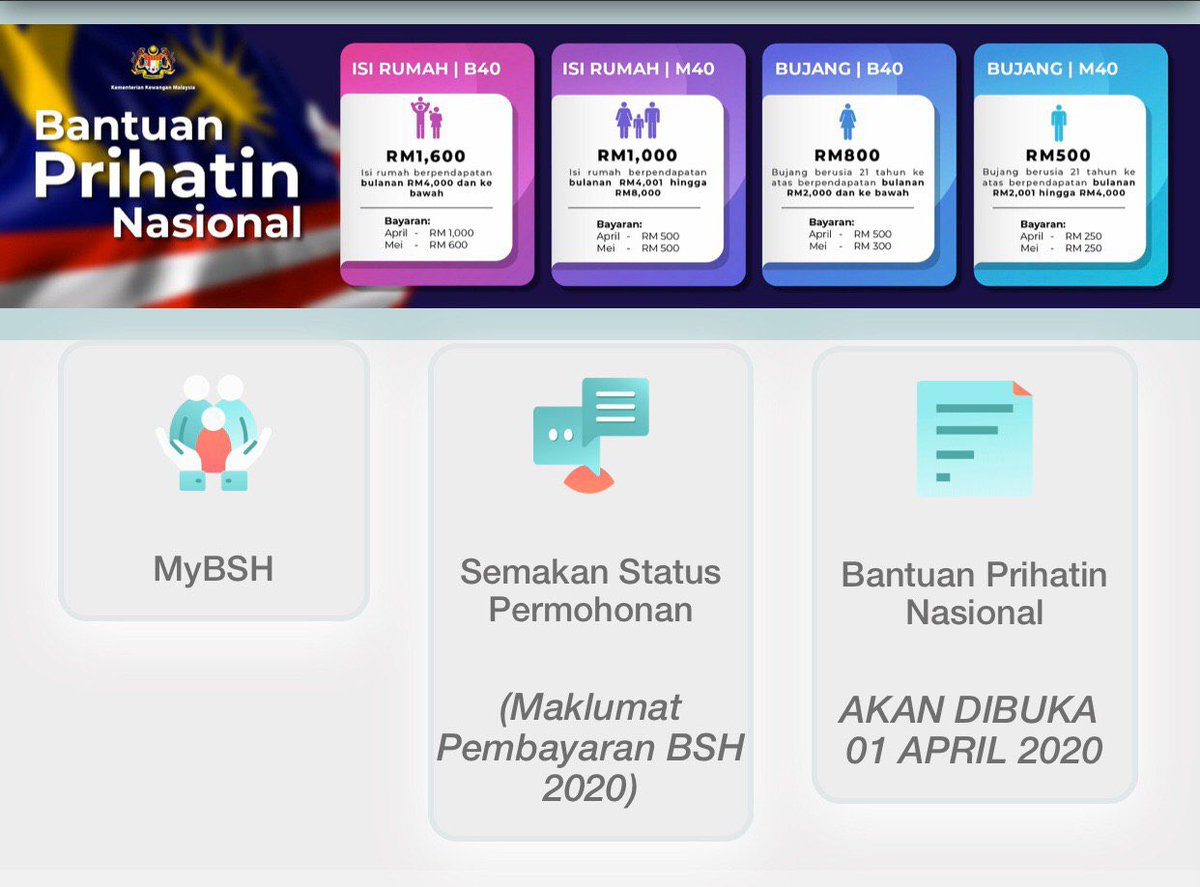 Bfm News On Twitter Non Bsh Recipients Or Those With No Lhdn E Filing Accounts Are Able To Register Via Https T Co 9beniqxi93 Beginning Today For Bantuan Prihatin Nasional Eligibility Status Checks Can Also Be Made