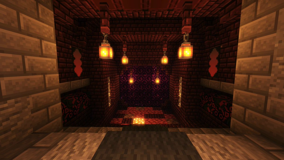 Elvenham On Twitter Since It Came Up Earlier I Finished My Nether Portal Room Yesterday Not Touching The Hub Until 1 16 Though Minecraft Https T Co Mjsrqi4wtl