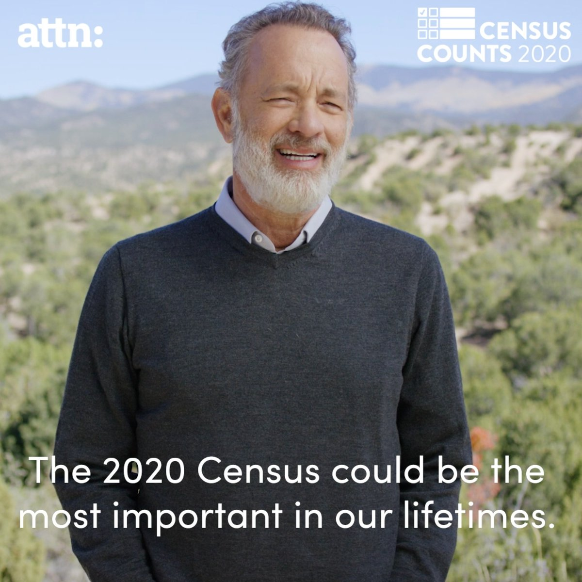Thanks to @tomhanks, @JanelleMonae, @lizakoshy, @selenagomez, @FaithHill and @mPinoe for coming together with @CensusCounts, @attn and @WhenWeAllVote to help spread the word about the importance of the #2020Census. https://t.co/RZXt3Fiyp6