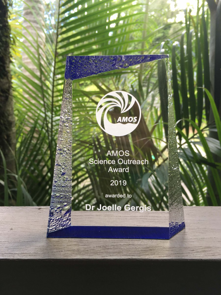 Congratulations to @joellegergis not just for this @AMOSupdates award but for the wonderful work that led to it.