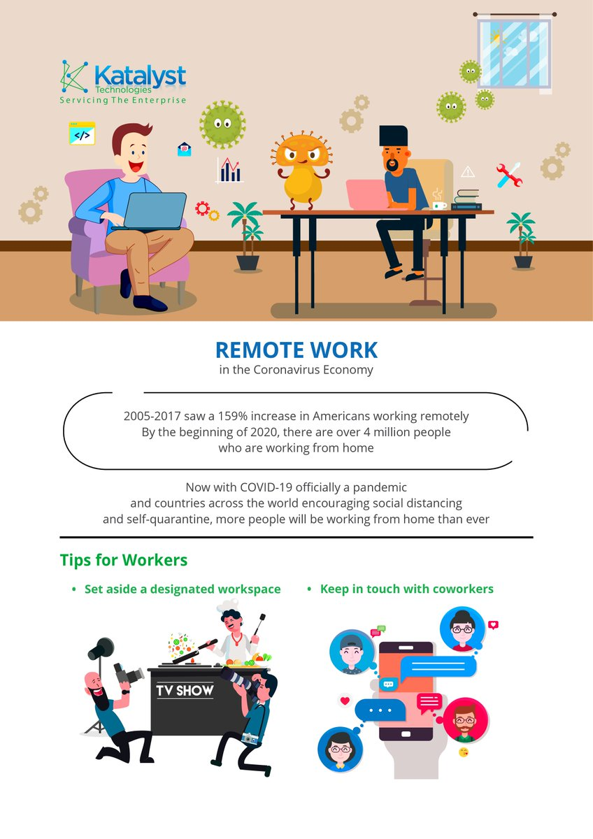 Want to maximize your #WorkFromHome situation? Here are some tips for businesses and workers. #WFH #StayHome #RemoteWork #COVID19 #SocialDistancingpic.twitter.com/Yc4x8DeDpg