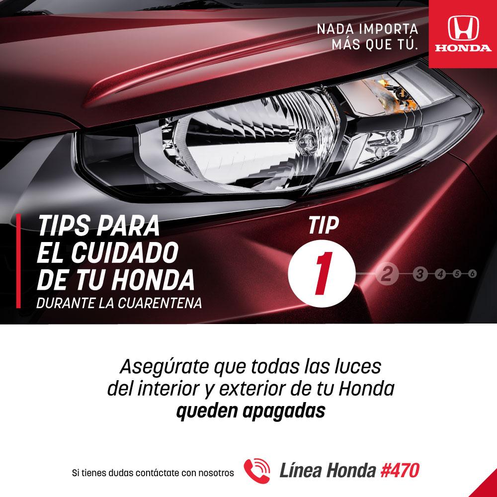 En Honda, nada importa más que tú, por eso compartimos contigo unos tips para el cuidado de tu vehículo durante estos días en los que todos debemos estar en casa, incluyendo tu Honda 🚗 https://t.co/NCK8jD8dDx