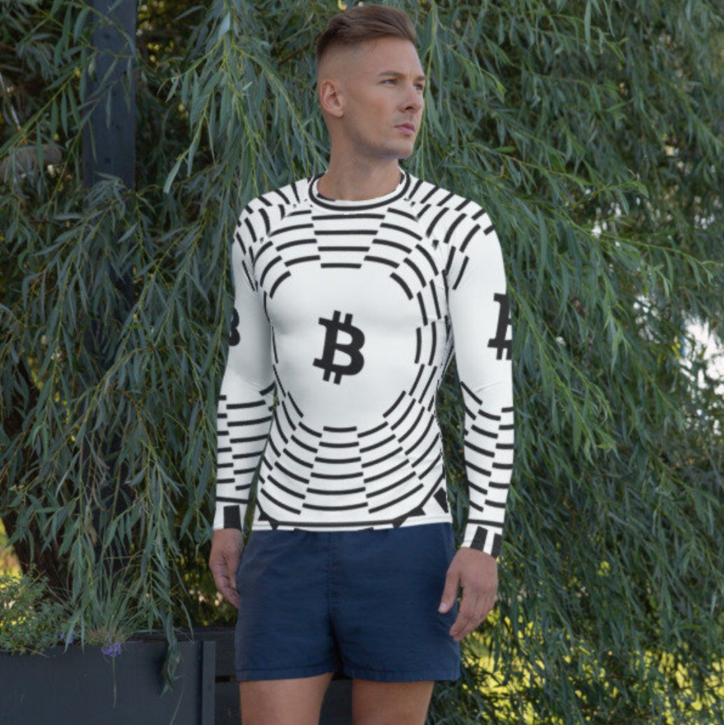 Sold one of these last night! 🤘  Get ready for Summer with some CRYPTO gear!  #BTC #Bitcoin #BitcoinArt #BitcoinApparel #Crypto #CryptoArt #CryptoApparel #CryptoShirt