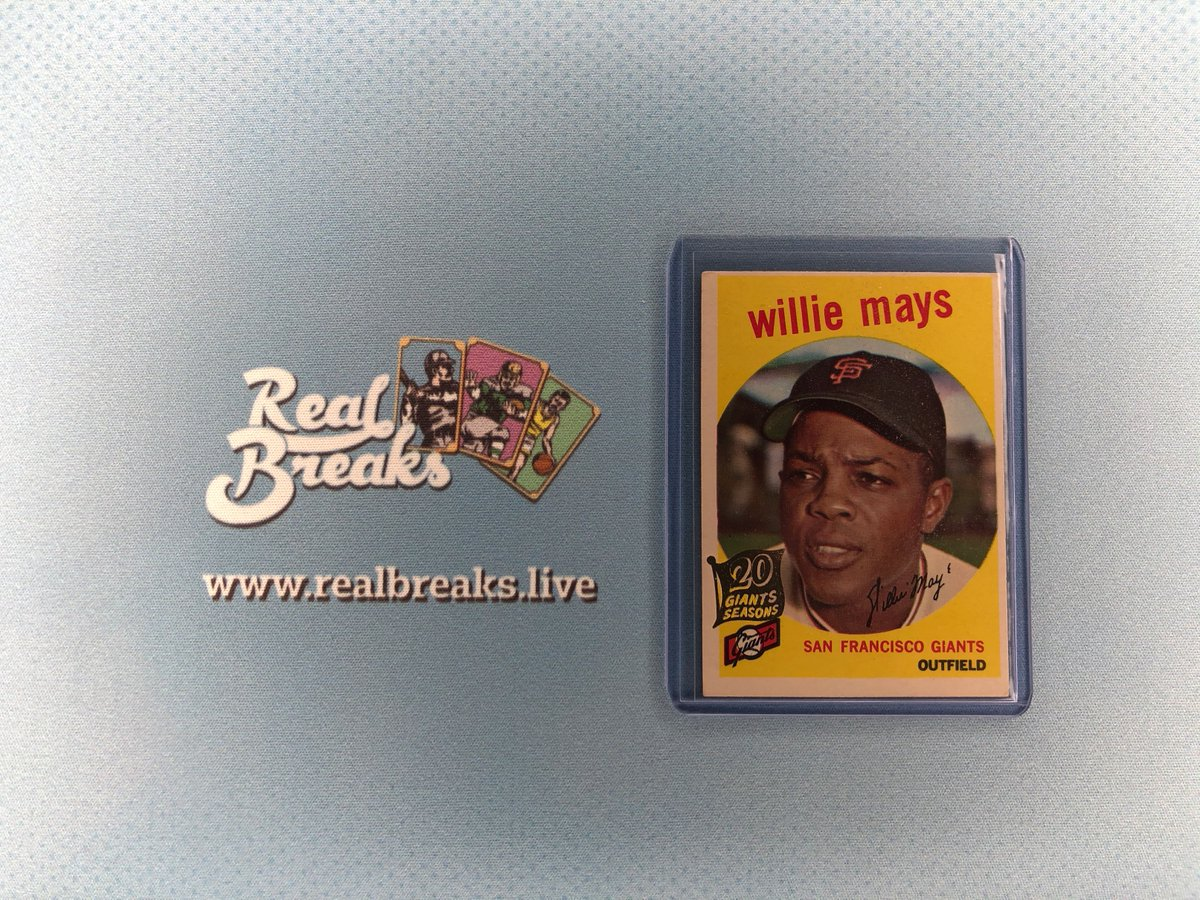 2020 Topps Heritage Willie Mays 20 Giants Seasons Stamped 1959 Topps Buyback . . . @Topps #realbreaks #boompoodle #whodoyoucollect #topps #toppsbaseball #toppsheritage #heritagebaseball #casebreak #groupbreak #mlb #baseball #baseballcards #williemays #giants #sfgiantspic.twitter.com/awPzq4SnIi