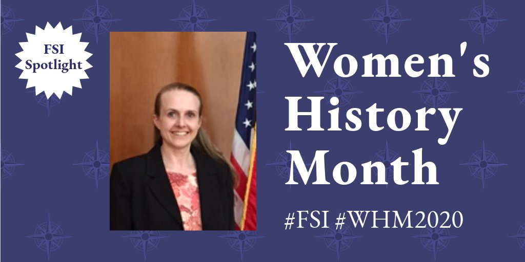 As we adapt to temporary remote language learning #FSI is  glad to have Ann's leadership as the director of FSI's language training campus in Rosslyn, VA. Prior to joining @StateDept, Ann was a German language professor, and served as a Russian linguist in @USArmy. #WHM2020