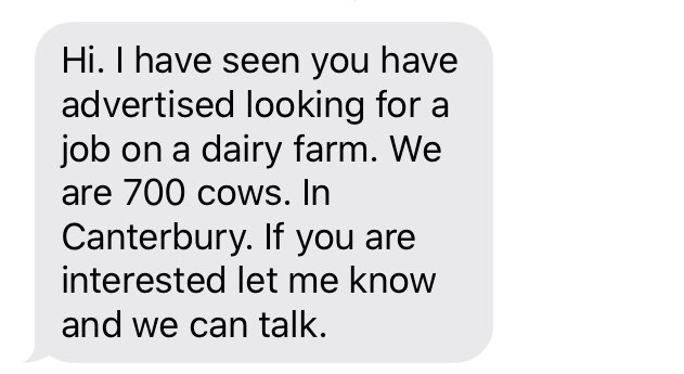 Help I have been texted by 700 cows