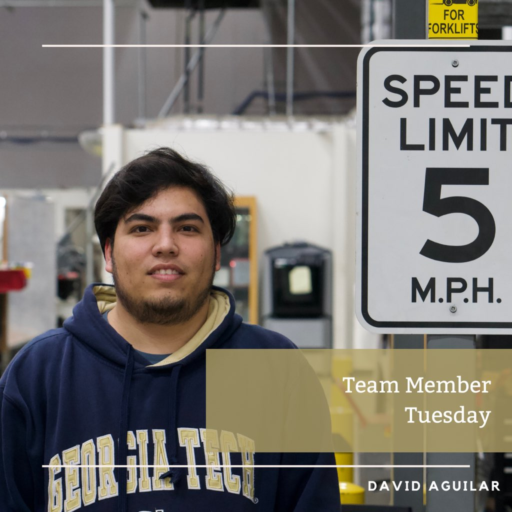 For this weeks #teammembertuesday meet David! He is a third year ME student who enjoys developing new skills while working with our awesome ecoCAR team! https://t.co/c46BAbrz4f