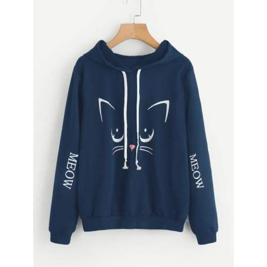 Cat Print Hoodie  $  59.99.   https://pooo.st/OjEVd  #jacket #coat pic.twitter.com/RyeMcV9al0