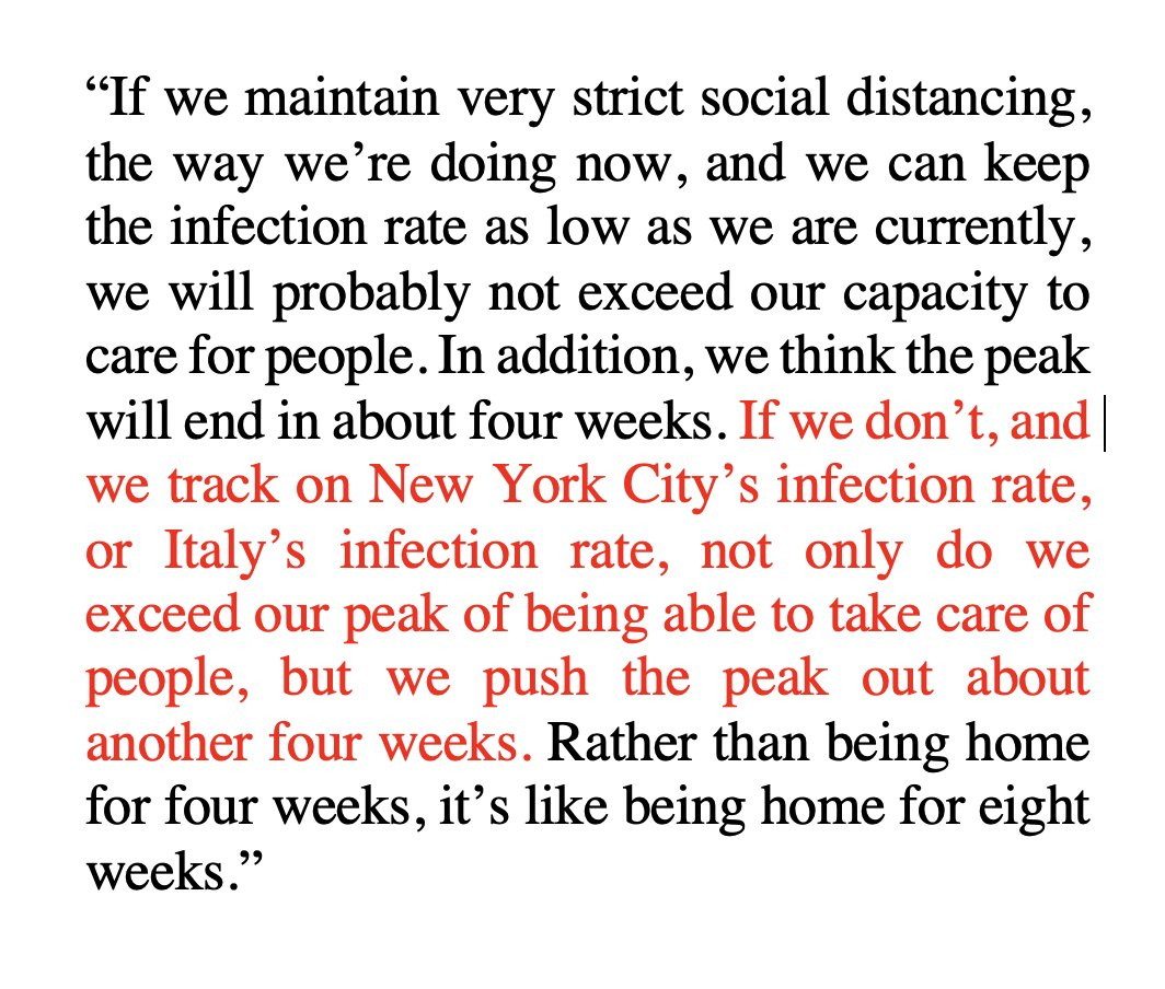 I wanted to highlight this quote from @bcmhouston President @DrPaulKlotman today about how crucial the stay-at-home order is for coronavirus in #Houston --> pic.twitter.com/nz0HPB21Tm