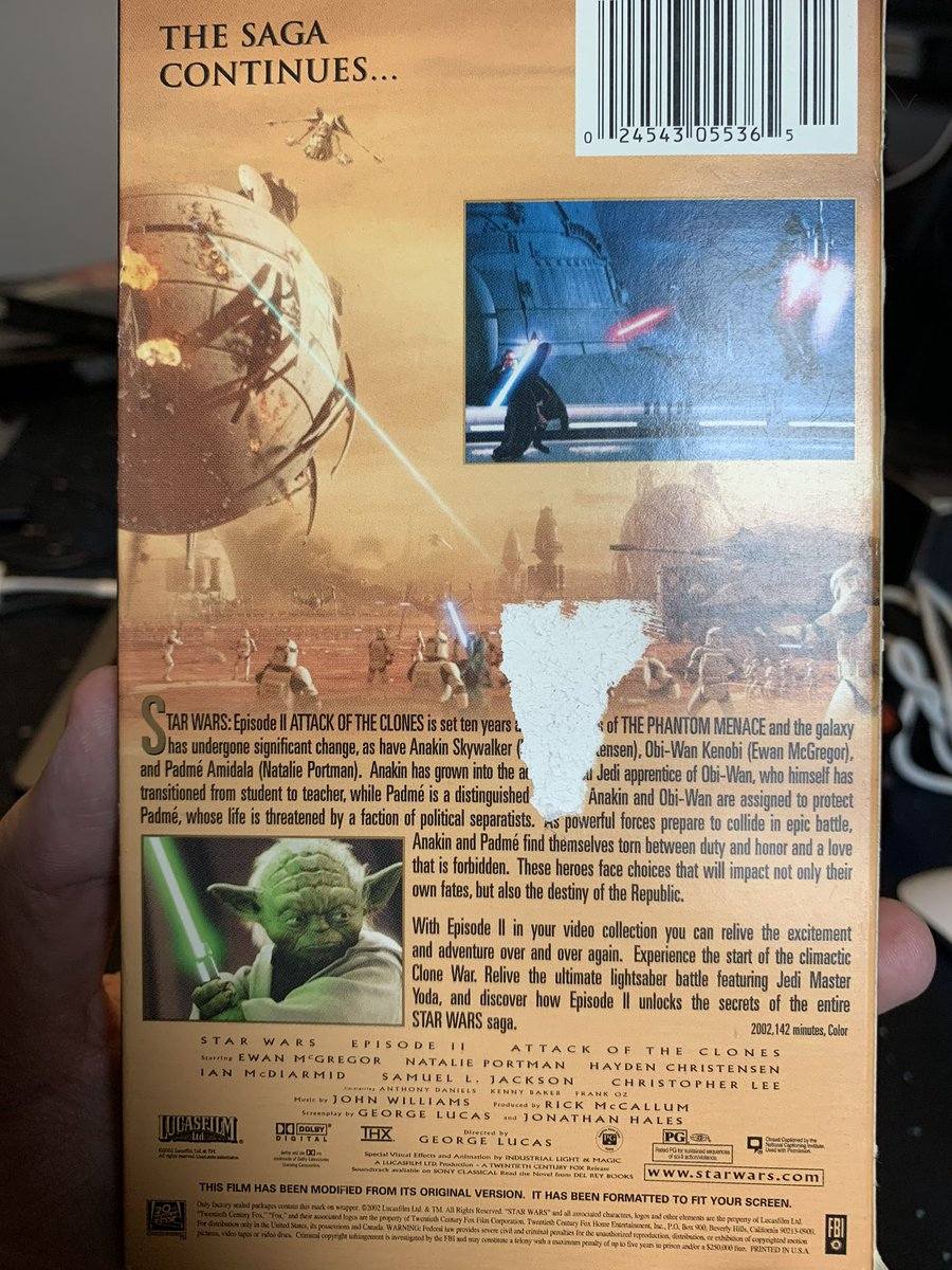 Bryan Young On Twitter This Would Be The Last Us Vhs Release Revenge Of The Sith Never Got A Wide Vhs Release In The Us