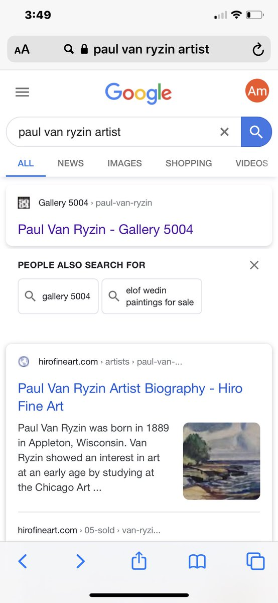 I copied our #PaulVanRyzin painting and pasted it along with a 9 1/2 million dollar price tag and tried to trick @paytheladylaura while we were doing research on the piece.  I used the wrong blue font and she busted me right away. #smartgirl pic.twitter.com/4C3nJDbkEO