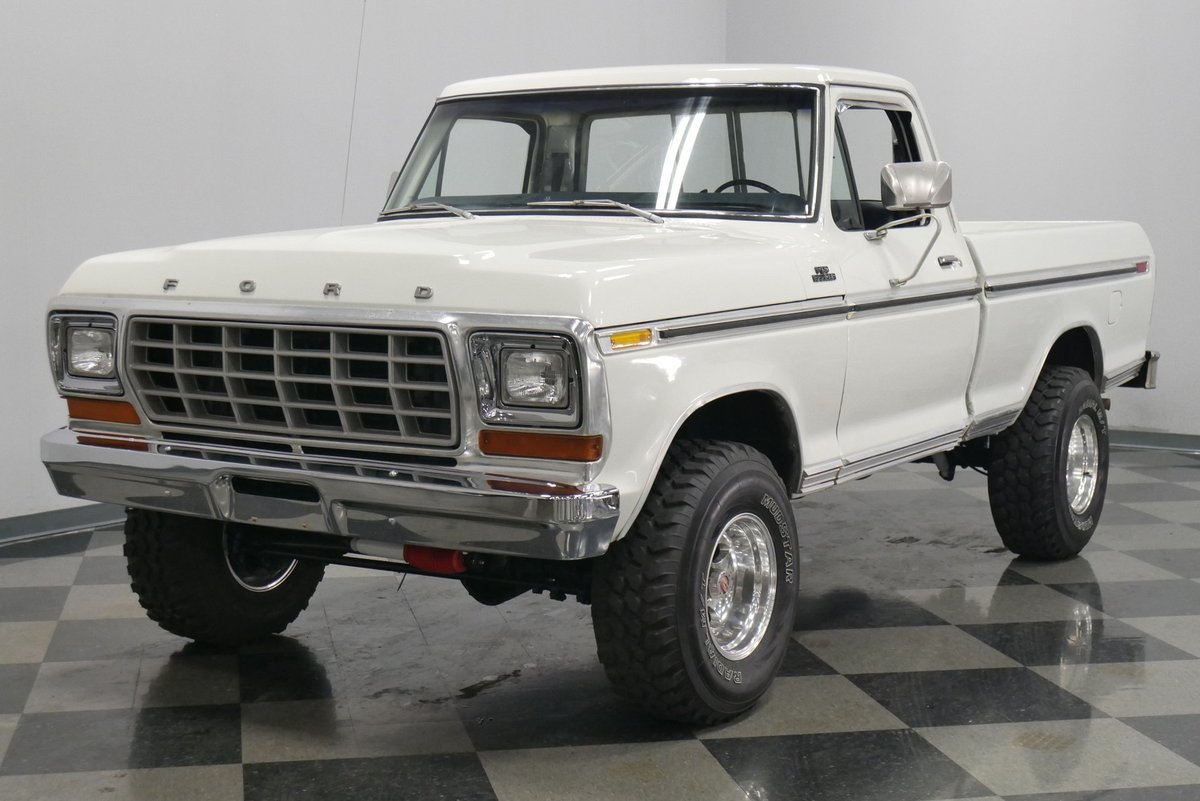 Streetside Classics On Twitter Solditwithstreetside This 1978 Ford F 150 Ranger 4x4 Wields A 400 Cubic Inch V8 And 3 Speed Transmission Link Https T Co Tc37bmqk96 Cars Car Drive Engine Horsepower Fordmotorcompany Classicford Oldford