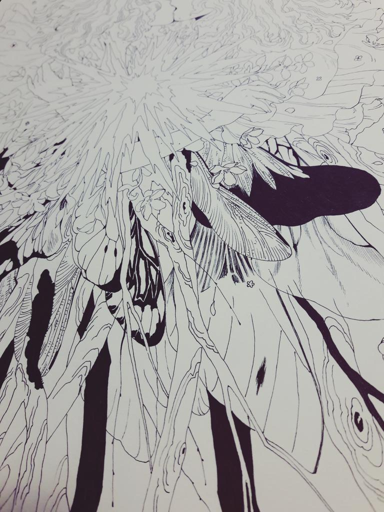 also here a little sneakpeak of my newest drawing :3 #drawing #lineart #freehand #wingspic.twitter.com/bRHREV6wqB