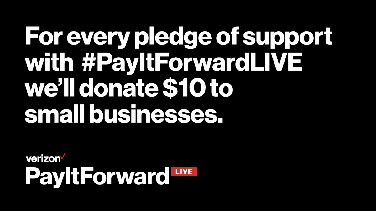Let's tune in together to support small businesses with #PayItForwardLIVE, from @Verizon. Tonight, @FaZeClan's @NateHillTV plays live on https://t.co/gpslfTsizT with @Marshmellomusic to support small businesses through #PayItForwardLIVE.