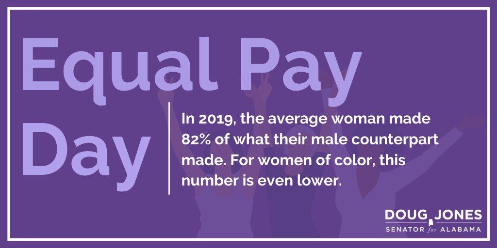 This #EqualPayDay, I am thinking of all the women fighting on the frontlines of this pandemic and working around the clock to keep our families safe. Equal pay is long past due and we must take action to close the wage gap. Equal work deserves equal pay—no question.