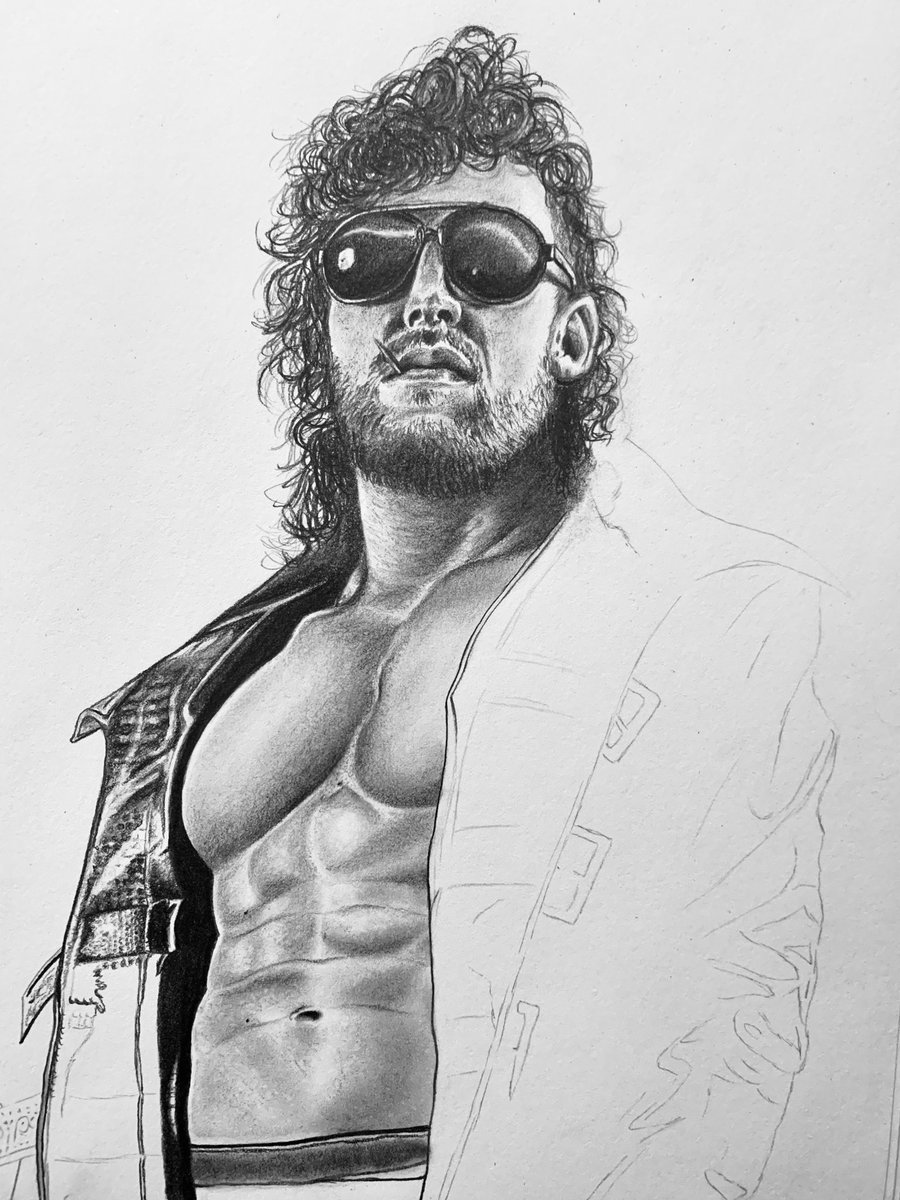 🎶Don't, stop me, now. Don't, stop me 'cause I'm having a good time🎶  Seven hours in today! I'm excited to see how this one will turn out. One thing staying home has taught me is more patience. Let's get it!  #KennyOmega