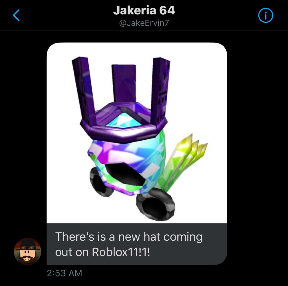 News Roblox على تويتر A Brand New Limited Item Coming To Roblox