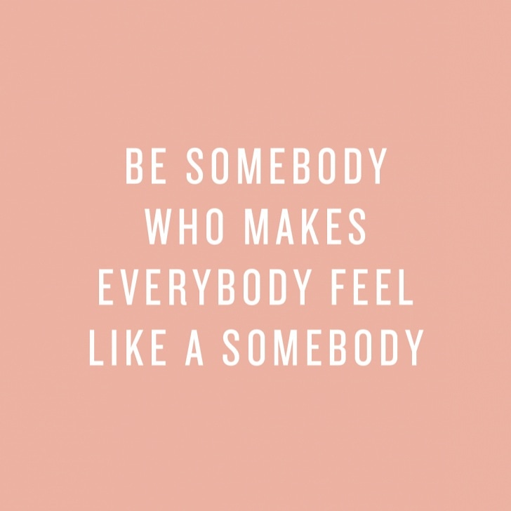 Be somebody who makes everybody feel like a somebody.  #mentalhealthawareness #mentalhealth #positivity #positivevibes #motivation #happy #trust #trustyourself #dontwait #futurepic.twitter.com/f3LkmKWkcB