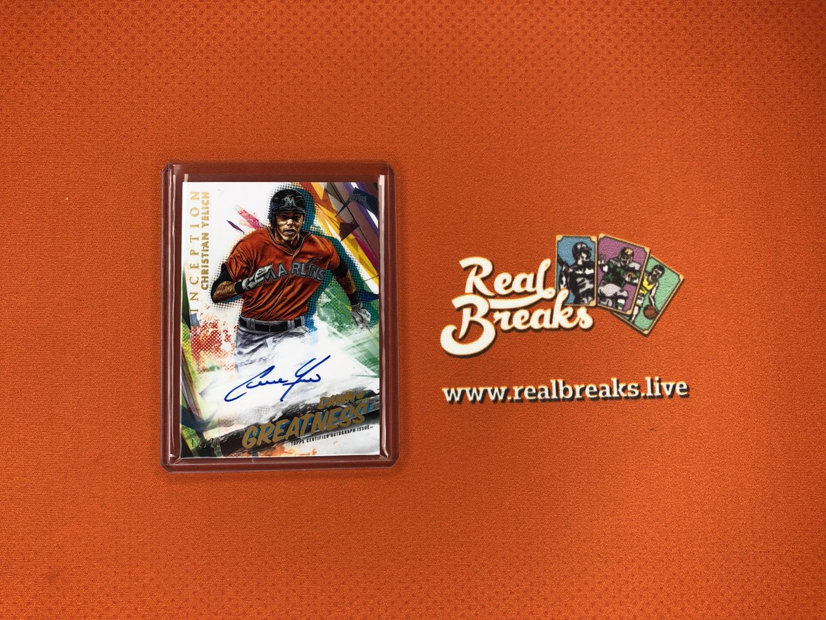 2020 Topps Inception Christian Yelich Dawn of Greatness Auto /20 . . . @Topps #realbreaks #boompoodle #whodoyoucollect #topps #toppsbaseball #toppsinception #inceptionbaseball #casebreak #groupbreak #mlb #baseball #baseballcards #christianyelich #yelich #marlins #brewerspic.twitter.com/vFaN7cVYFh