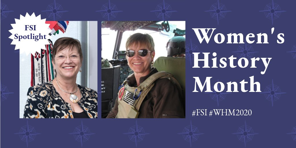 #FSI's Dean overseeing IT tradecraft and systems & security training Lizzie is no stranger to unique circumstances & challenges: she has nearly 4 decades of @StateDept experience, survivingcyclones, hurricanes, and rocket attacks while serving at 16 U.S. missions. #WHM2020