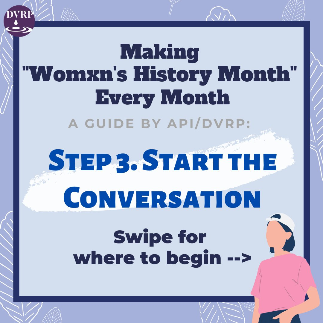 Today is the last day of WOMXN's HISTORY MONTH. Our final call to action on how we can continue to CENTER womxn as a DAILY practice is:  Step Three: Start the Conversation. 🧡.#whm2020 #whm #raiseapivoices #starttheconversation