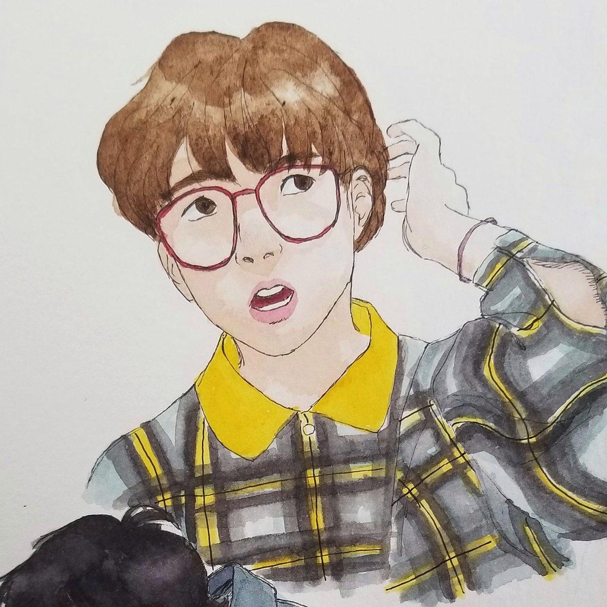 I like drawing #watercolor #portraits  pic.twitter.com/ZfQP3q97Jd