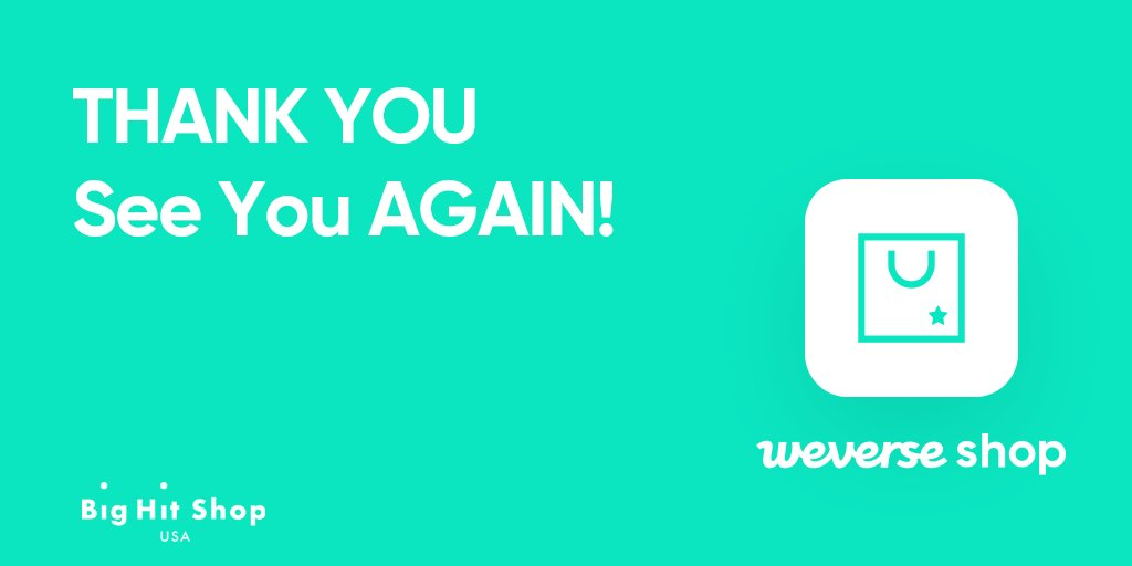 Big Hit Shop USA is closing on 30 Apr, 7 PM (PST). Thank you for shopping with us! For the official merch, you can visit Weverse Shop, the official and global fan merchandise app! More info 👉bit.ly/2UuP1lI Go to Weverse Shop 👉weverseshop.io