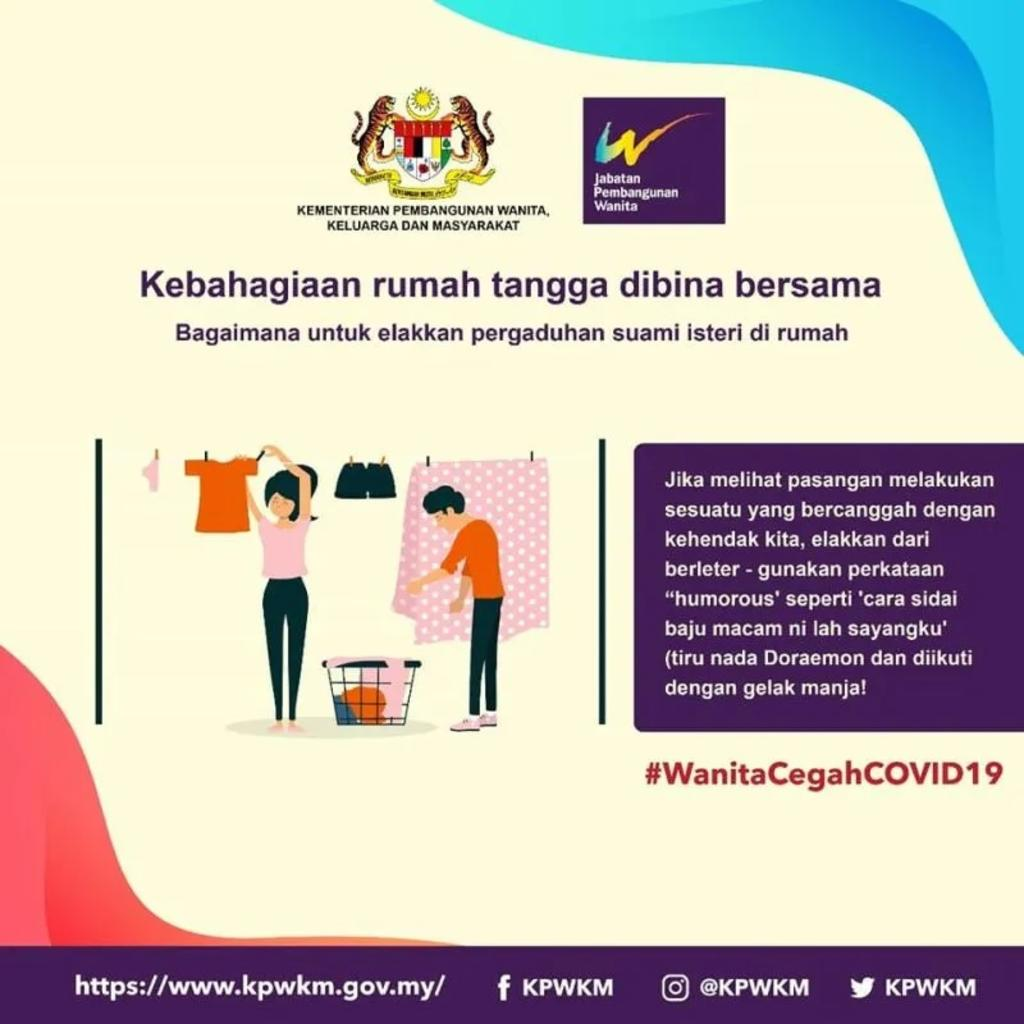 Malaysia's Women's Development Dept says sorry after tips for women amid MCO slammed for sexism https://bit.ly/3aAdBHk pic.twitter.com/3o1gy4RPtJ