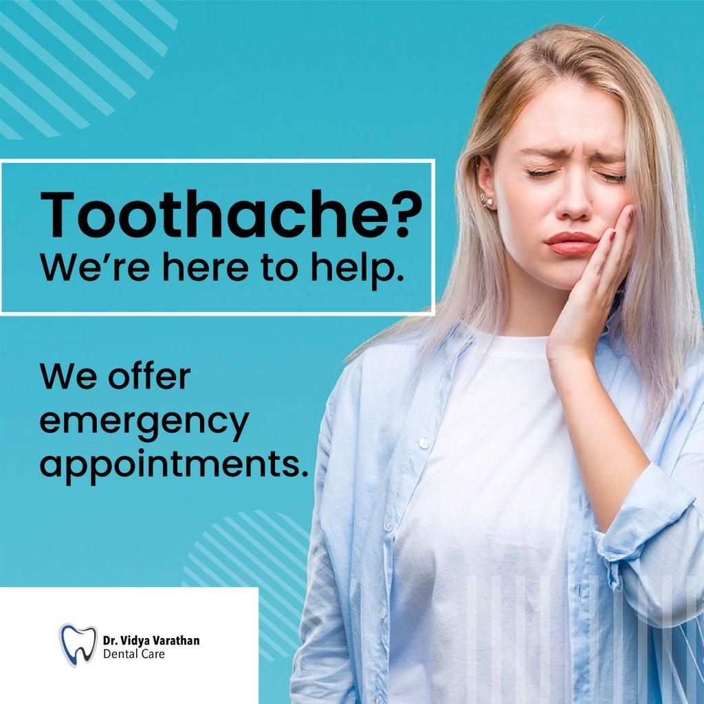 Toothache? We're here to help.   We offer emergency appointments.    #drvidyavarathan #ensuredental #markhamdentist #scarboroughdentist #kidsdentist #dentistry #dentist #dental #dentistrylife #dentalcarepic.twitter.com/6StPP3wjhm