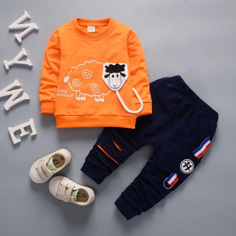 #design #sale Children's Suit Clothes 2018 New Spring and Autumn Kids Sets Fashion Lamb 100% Cotton Boys and Girls Long Sleeve Suit 2PCS pic.twitter.com/hLX9U9e25m