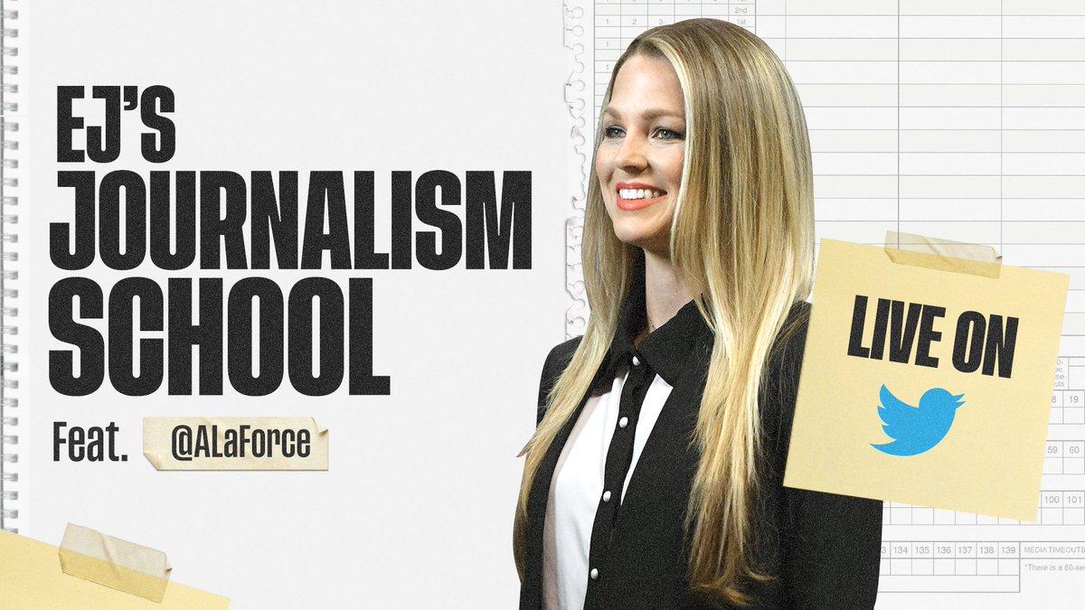 Can't wait to hear what Allie LaForce shares about the business of sideline reporting on Wednesday at 2 ET @ALaForce