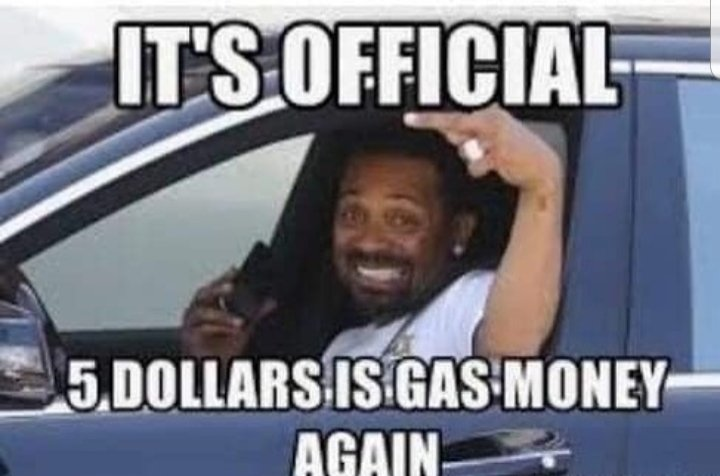 People of the world, rejoice! #gasmoney #IGotFiveOnIt  #StayAtHome  🎵🎶But you cant go out🎶🎵