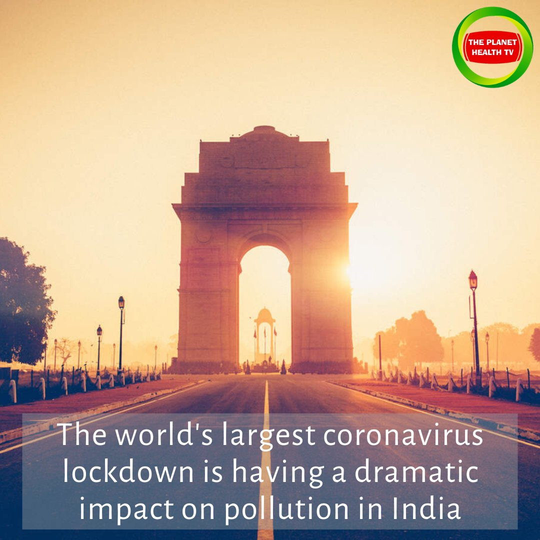 When #India  imposed a #nationwide  #lockdown  a week ago, it was designed to stop the imminent spread of the novel #coronavirus . 1.3 billion #people  also provided a temporary remedy to another #HealthIssue : suffocating #pollution  levels. #ThePlanetHealthTv  #PlanetHealthCares