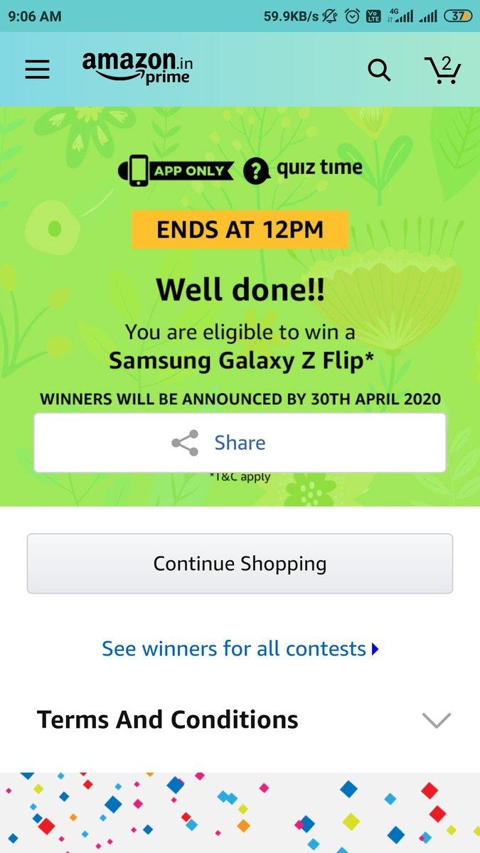#quiztimemorningwithamazon  #QuizTimeMoringsWithAmazon  #Quiz #Samasung #samsungzflip  #samsunggalaxypic.twitter.com/8z1VAFA5jO