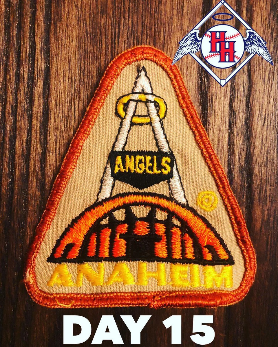 Day 15: #Anaheim patch featuring the Big Å and the Convention Center. ⚾️ Post a picture of your #Angels collection each day until baseball is back. #AngelsMemorabiliaChallenge #halohaven #angelsbaseball #anaheim