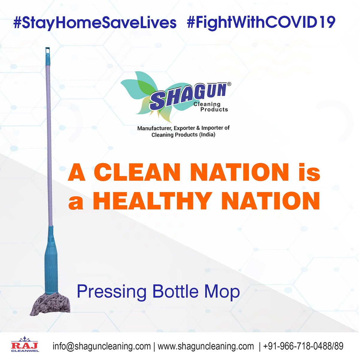 #Always Clean Your Home with #ShagunMop A #CleanNation is a #HealtyNation http://Www.shaguncleaning.com  #StayAtHome #COVID19india #coronavirus #CoronavirusOutbreak #CoronaVirusUpdate #CoronaAlert #lockdown  #ShagunCleaningProducts #Mop #cleaningproductsExporters #cleaningproducts pic.twitter.com/7S8VPw6how