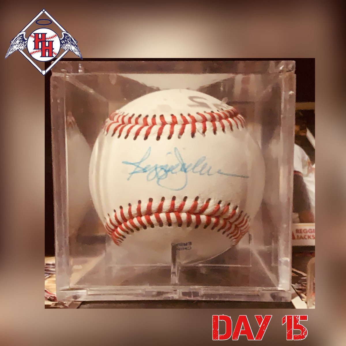 Day 15: Reggie Jackson autographed Baseball. ⚾️ Post a picture of your #Angels collection each day until baseball is back. #AngelsMemorabiliaChallenge #halohaven #angelsbaseball #anaheim #mroctober #reggie