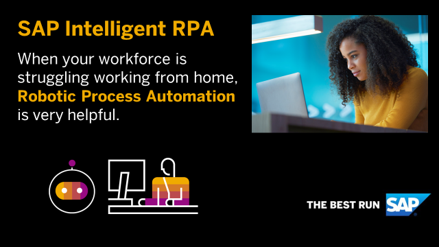 Your teams working from home? Robotic Process Automation to the rescue! #SAP #iPRA #TheBestRun #SAP #DigitalTransformation #Innovation #IntelligentEnterprise https://bit.ly/34bWt8Jpic.twitter.com/fWS9SAIgEQ