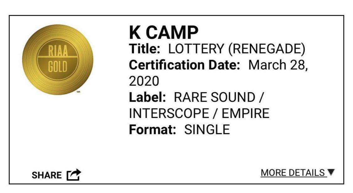 We make shit happen! Went Gold! All organic! @kcamp @ReazyRenegade
