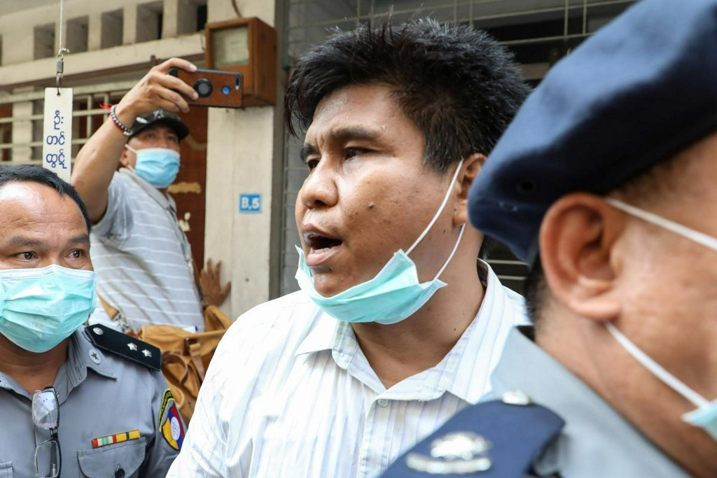 Myanmar charges journalist under terrorism law, blocks news websites
